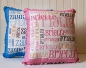 TWIN SET - Two Custom Name Pillows - You pick the colors for each