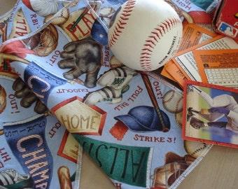 DESTASH Table Napkins - Everyday Reusable Baseball Little League Lunchbox Napkins Wipes  Set of 4