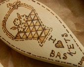 I Love Baskets Wooden Spoons