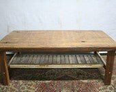 The Bargeboard coffee table in natural matte finish