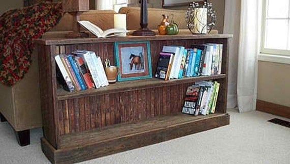 under window bookcase