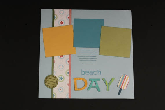 Beach premade scrapbook pages, photo pages for scrapbook, memories