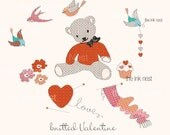 CLIP ART - Knitted Valentine - for commercial and personal use