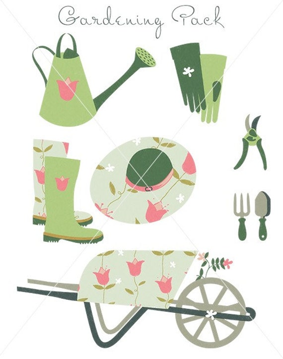 CLIP ART - Gardening Pack - for commercial and personal use