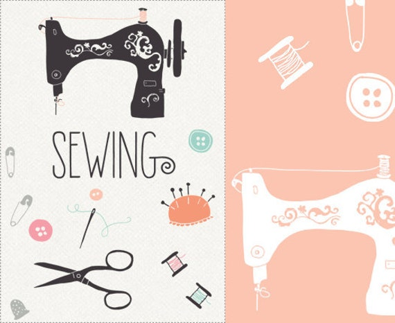 CLIP ART and Photoshop Brushes - Sewing - for commercial and personal use