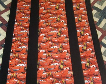 Lightning McQueen Cars (Toddler Bed Quilt)-QuiltsbyShirley