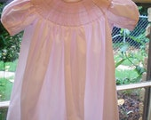 Pink bishop daygown - ready to smock