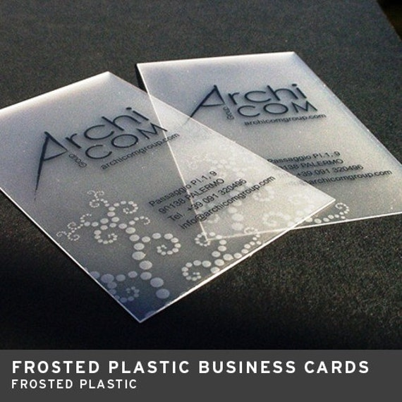 500 Frosted Plastic Business Cards With Rounded Corners