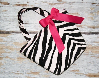 The Diva in Zebra and Hot Pink Of Course -Toddler Tote - Can Be Personalized
