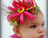 RESERVED FOR TAMMY Baby Headband and Elastic Sandals pink green and yellow
