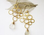 Bella Earrings, Gold Looped  Earrings