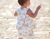 INSTANT DOWNLOAD- Mayah Reversible Pinafore and Bloomers (Sizes 6/9 months to 5) PDF Sewing Pattern and Tutorial