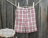 INSTANT DOWNLOAD- The Boys Shorts (Size 12/18 months to Size 6) PDF Sewing Pattern and Tutorial