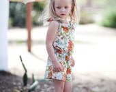 INSTANT DOWNLOAD- Saffron Romper (Size 12/18 months to Size 7) PDF Sewing Pattern and Tutorial