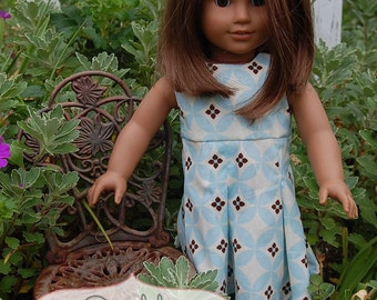 INSTANT DOWNLOAD- Gia Pleated Doll Dress PDF Sewing Pattern and Tutorial