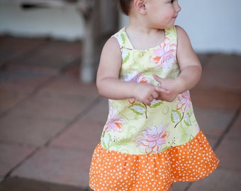 INSTANT DOWNLOAD- Sabrina Dress (Size 3/6 months to 6) PDF Sewing Pattern and Tutorial