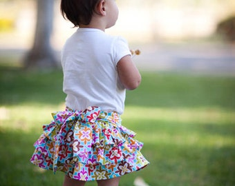 INSTANT DOWNLOAD- Flutter Skirt (Sizes 12 months to Size 8) PDF Sewing Pattern and Tutorial