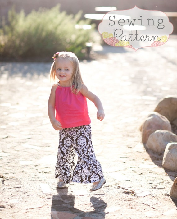 INSTANT DOWNLOAD- Ruffle Pants (Sizes 6 months to 6) PDF Sewing Pattern and Tutorial
