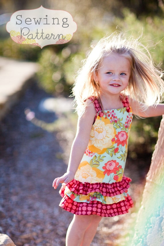 INSTANT DOWNLOAD- Hayden Dress (Sizes 6 months to 6) Sewing PDF Pattern and Tutorial
