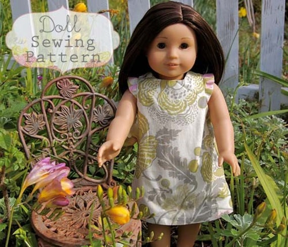 INSTANT DOWNLOAD- Elsie Doll Dress PDF Sewing Pattern and Tutorial