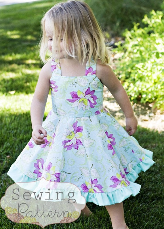 Instant Download The Twirly Dress Size 1 To 10 Pdf Sewing