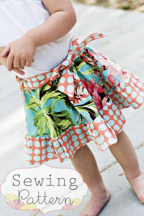 INSTANT DOWNLOAD- Happy Skirt (Sizes 3/6 months to 6) PDF Sewing Pattern and Tutorial