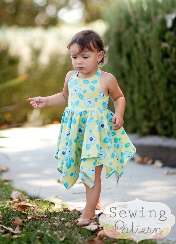 INSTANT DOWNLOAD- Willow Dress (Size 12/18 mos to Size 6) PDF Sewing Pattern and Tutorial