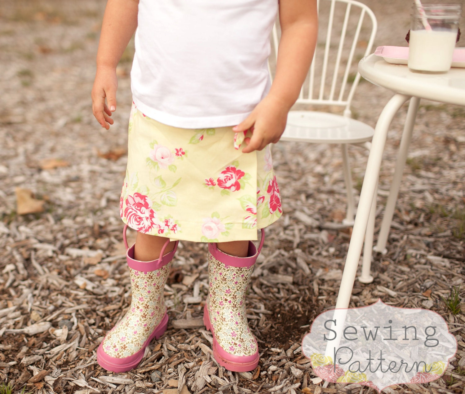 INSTANT DOWNLOAD Sweetie Wrap Skirt Sizes 12/18 months to