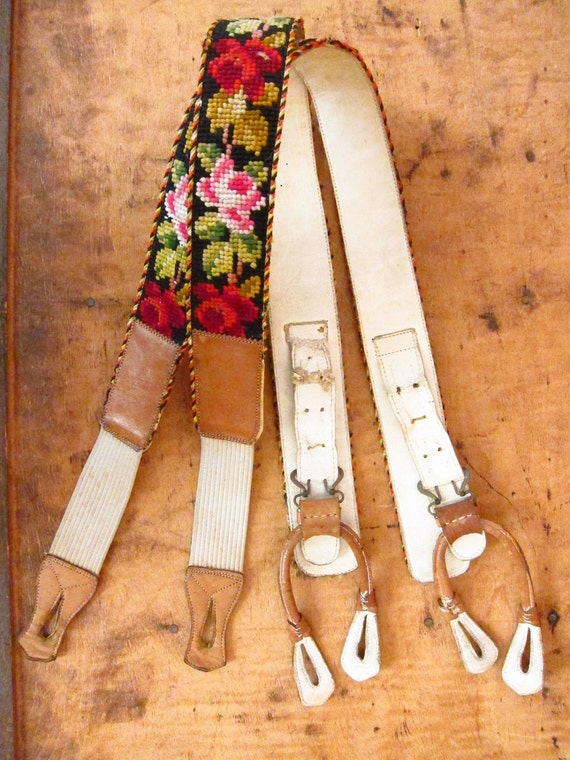 German Needlepoint Suspenders