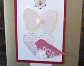 Valentines Day Pretty in Pink w/ Butterflies and Birds