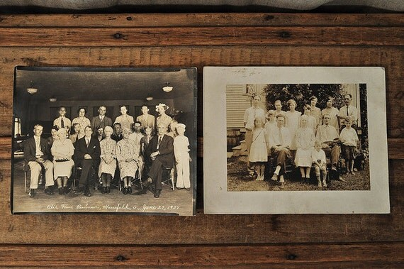 Pair of Antique Group Photos