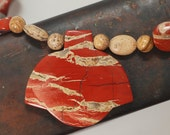 Red River Jasper and Picture Jasper necklace - CraftyGalCreations