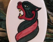 Oval Ornament - Celtic Cat