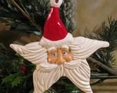 Christmas Ornament - Santa Head Star