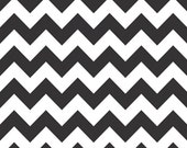Riley Blake Chevron fabric in Black, C320-110  --fat quarter, in stock - WhimsyQuilts