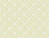 Riley Blake Vintage Baby fabric Flower, C2813 Aqua -- fat quarter, in stock