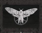 Mechanical Moth - Black Canvas Patch