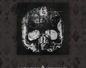 Skull - Black Canvas Patch