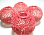 30mm JUMBO - Basketball Wives Inspired RED MESH Balls - 4 pieces