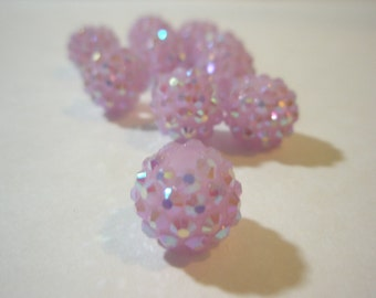 14 MM - 10 Rhinestone Resin Balls - LIGHT PURPLE - Basketball Wives Inspired