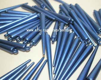 51mm (Large) - Basketball Wives Inspired  BLUE SPIKES (30 pieces)