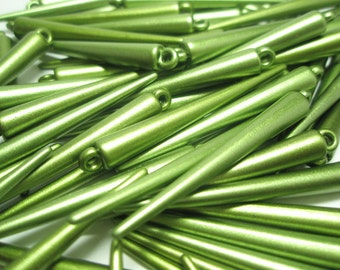 LARGE - Basketball Wives Inspired GREEN SPIKES  (51 mm) (20 pieces)