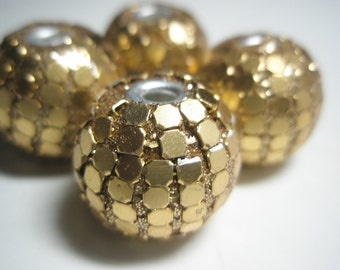 25mm - GOLD Gumball Beads -  Basketball Wives Inspired - 4 pieces