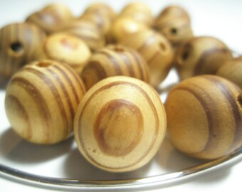 Basketball Wives Inspired  - Burlywood Round Beads - (17 mm) - 12 pieces