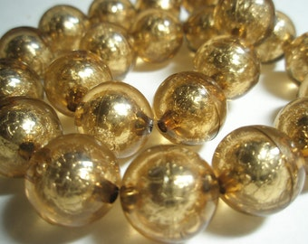 CLEAR BRONZE Beads Spacers  -(16 mm) - Basketball Wives Inspired - 10 pieces