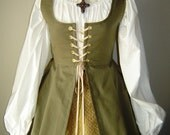 Renaissance Irish Overdress Gown in Twil - GIRLS SIZES