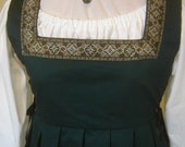Italian Side-Lacing Twill Gown with Trim - Custom Made