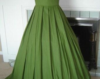 Italian Renaissance Linen Kirtle Gown Dress - Custom Made