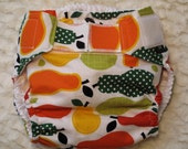 Diaper cover/ waterproof wrap. Quite a pear . Size Medium: 20 to 30 pounds.