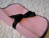 Washable wipes.  Pink with black. Set of Ten.